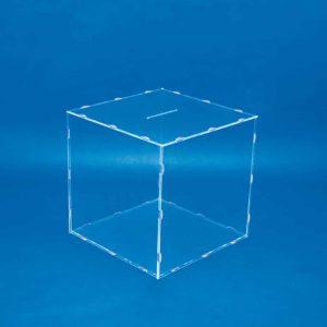 Urna en acrílico transparente plegable 500 mm