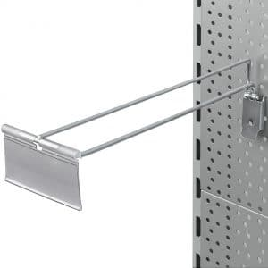 Gancho Sencillo con Portaprecio para Panel Perforado