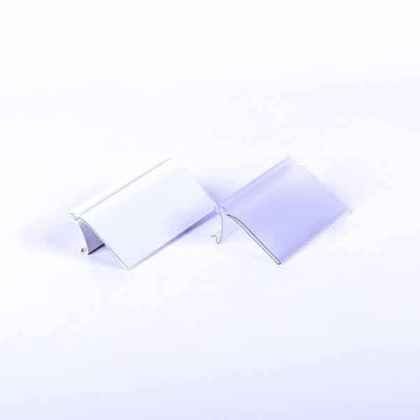 Portaprecios HY transparente y blanco