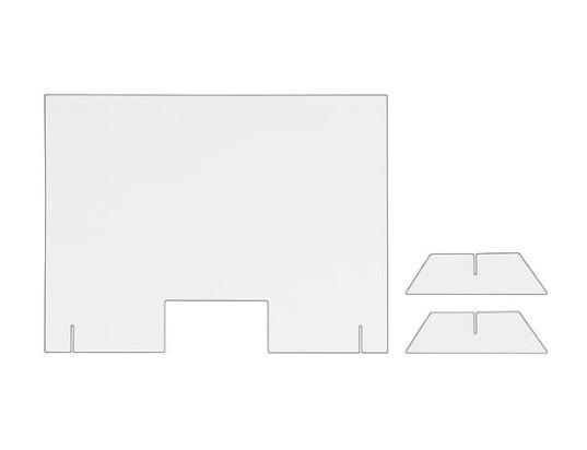 Pantalla protectora para mesa/mostrador 1000x750mm