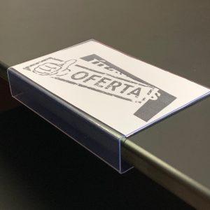 10 Etiqueteros texto plano para balda de 19 mm